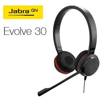 Headsetr Jabra Evolve 30
