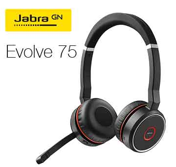 Headset Jabra Evolve 75.